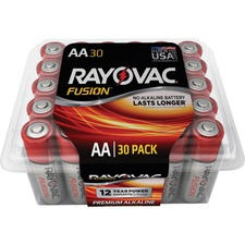 RAY 81530PPTFUSK Rayovac Fusion Advanced Alkaline AA Batteries RAY81530PPTFUSK