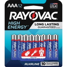 RAY 82412KCT Rayovac Alkaline AAA Batteries RAY82412KCT