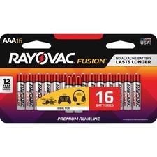 RAY 82416LTFUSK Rayovac Fusion Alkaline AAA Batteries RAY82416LTFUSK