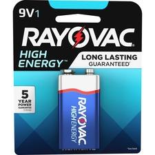 RAYA16041K - Rayovac Alkaline 9 Volt Battery