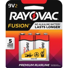 RAY A16042TFUSK Rayovac Fusion Advanced Alkaline 9V Batteries RAYA16042TFUSK