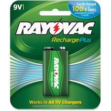RAY PL16041GENE Rayovac Recharge Plus 9-volt Battery RAYPL16041GENE