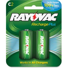 RAY PL7142GENE Rayovac Recharge Plus C Batteries RAYPL7142GENE