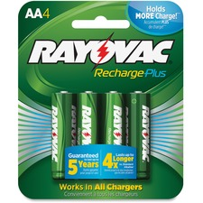 RAY PL7154GENE Rayovac Recharge Plus AA Batteries RAYPL7154GENE