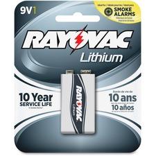 RAY R9VL1G Rayovac 9V Lithium Battery RAYR9VL1G