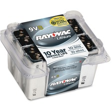 RAY R9VL8G Rayovac 9V Lithium Battery RAYR9VL8G