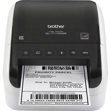 "Brother QL-1110NWB Desktop Direct Thermal Printer - Monochrome - Label Print - Ethernet - USB - Bluetooth - 118.11"" (3000 mm) Print Length - 4"" Print Width - 110 mm/s Mono - 300 x 300 dpi - Wireless LAN - 4.08"" (103.60 mm) Label Width"