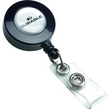 DURABLE Badge Reel - 10 / Box - Charcoal