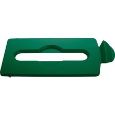 RCP 2007886 Rubbermaid Comm. Slim Jim Lid Green Paper Slot RCP2007886