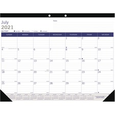 RED CA177227 Rediform DuraGlobe Academic Monthly Desk Pad REDCA177227