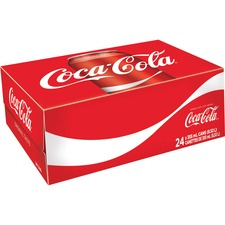 Coke Classic Canned Soft Drink - Ready-to-Drink - Cola Flavor - 354.88 mL - 24 / Box