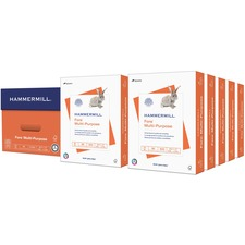 "Hammermill Paper for Multi 8.5x11 Laser, Inkjet Copy & Multipurpose Paper - White - 96 Brightness - Letter - 8 1/2"" x 11"" - 20 lb Basis Weight - FSC"