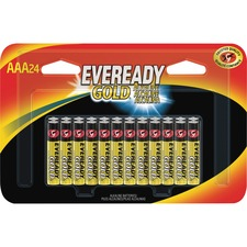 EVE A92BP24 Energizer Eveready Gold Alkaline AAA Batteries EVEA92BP24