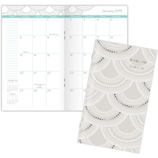 AAG 5138S021 AT-A-GLANCE Serene Scallops 2-year Pocket Planner AAG5138S021