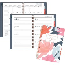 AAG5148B200 - At-A-Glance Badge Floral Weekly/Monthly Planner