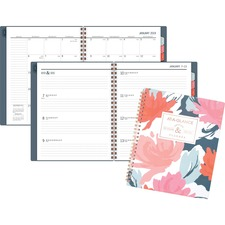 AAG5148B805 - At-A-Glance Badge Floral Weekly/Monthly Planner