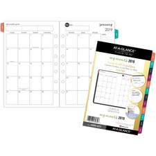 AAG60994211 - At-A-Glance Harmony 2 Page Per Month Monthly Planner Refill