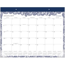 AAGD1141704 - At-A-Glance Paige Monthly Desk Pad Calendar