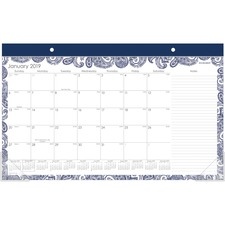 AAG D1141705 AT-A-GLANCE Paige Monthly Desk Pad Calendar AAGD1141705
