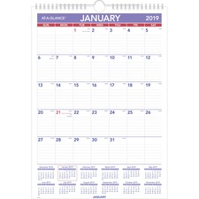 AAGPM22819 - At-A-Glance Plan-A-Month Wall Calendar