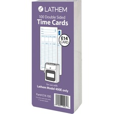 LTH E14100 Lathem Model 400E Double Sided Time Cards LTHE14100