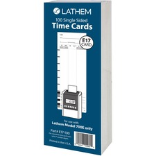 LTH E17100 Lathem Model 700E Clock Single Sided Time Cards LTHE17100