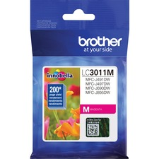 Brother LC3011MS Original Ink Cartridge - Single Pack - Magenta - Inkjet - Standard Yield - 200 Pages - 1 Each