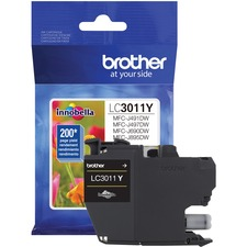 Brother LC3011YS Original Ink Cartridge - Single Pack - Yellow - Inkjet - Standard Yield - 200 Pages - 1 Each