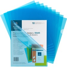 BSN 00605 Bus. Source Transparent Poly File Holders BSN00605