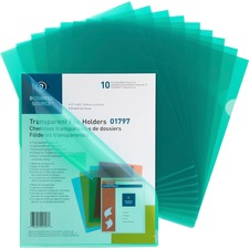 BSN 01797 Bus. Source Transparent Poly File Holders BSN01797