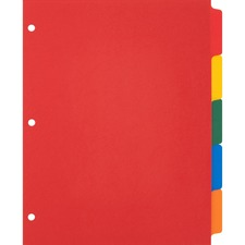 BSN 01809 Bus. Source Plain Tab Color Poly Index Dividers BSN01809