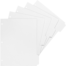BSN02077 - Business Source White Tab Double-reverse Print-on Index
