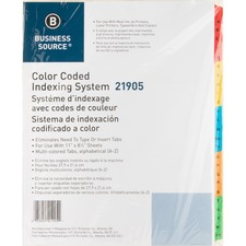 BSN 21905 Bus. Source A-Z Tab TOC Index Dividers BSN21905