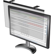 """Business Source LCD Monitor Privacy Filter Black - For 24"""" Widescreen LCD Monitor - 16:10 - Acrylic - Anti-glare - 1 Pack"""