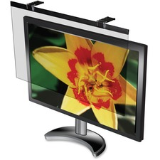 """Business Source Wide-screen LCD Anti-glare Filter Black - For 24"""" Widescreen LCD Monitor - 16:10 - Acrylic - Anti-glare - 1 Pack"""