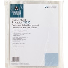 """Business Source Heavy-duty Sheet Protectors - 8.5"""" Width - 100 x Sheet Capacity - Ring Binder - Top Loading - Clear - 25 / Pack"""