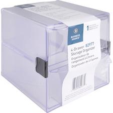 BSN 82977 Bus. Source 4-drawer Storage Organizer BSN82977