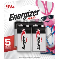 EVE 522BP4CT Energizer Max Alkaline 9-Volt Battery EVE522BP4CT