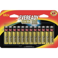 EVE A91BP24CT Energizer Eveready Gold Alkaline AA Batteries EVEA91BP24CT