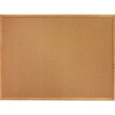 LLR 19766 Lorell Oak Wood Frame Cork Board LLR19766