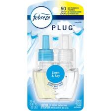 Febreze Plug Linen/Sky Refill - Oil - 26 mL - Linen & Sky - 50 Day - Long Lasting, Odor Neutralizer