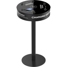 ChargeTech Power Table 12-Cable Charging Station - Wired - Mobile Device - Charging Capability - Black