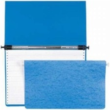 "Acco ACCOHide Data Binders - 67P Blue, 11"" x 8-1/2"" Sheet Size, 10-1/2"" Center - 6"" Binder Capacity - Letter - 8 1/2"" x 11"" Sheet Size - Post Fastener(s) - 29 pt. Binder Thickness - Poly - Blue - 217.7 g - Durable, Water Proof, Embossed, Rip Proof, Crack Resistant, Retractable Filing Hooks - 1 Each"