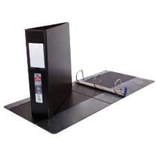 "Wilson Jones ENVI Single Touch D-Ring Binders, Black, 1"" - 1"" Binder Capacity - Letter - 8 1/2"" x 11"" Sheet Size - D-Ring Fastener(s) - 2 Internal Pocket(s) - Polypropylene, LeatherGrain - Black - Label Holder, Reinforced Seam, PVC-free - 1 Each"