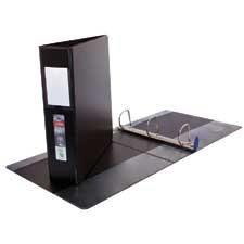 "Wilson Jones ENVI Single Touch D-Ring Binder, Black, 1.5"" - 1 1/2"" Binder Capacity - Letter - 8 1/2"" x 11"" Sheet Size - D-Ring Fastener(s) - 2 Internal Pocket(s) - Polypropylene, LeatherGrain - Black - Label Holder, Reinforced Seam, PVC-free - 1 Each"