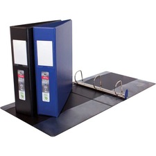 "Acco ENVI Single Touch D-Ring Blue - 1 1/2"" Binder Capacity - Letter - 8 1/2"" x 11"" Sheet Size - 400 Sheet Capacity - D-Ring Fastener(s) - 2 Internal Pocket(s) - Polypropylene, LeatherGrain - Blue - 41.6 g - Label Holder, Reinforced Seam, PVC-free, Gap-free Ring - 1 Each"
