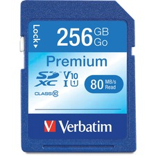 VER 99828 Verbatim 256GB Premium SDXC Memory Card VER99828