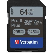 VER 99166 Verbatim Pro II Plus SDXC Memory Card VER99166