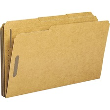 BSN 17232 Bus. Source 1/3-cut 2-ply Tab Fastener Folders BSN17232