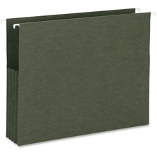 "Business Source Hanging File Pockets - Letter - 8 1/2"" x 11"" Sheet Size - 3 1/2"" Expansion - Recycled - 10 / Box"